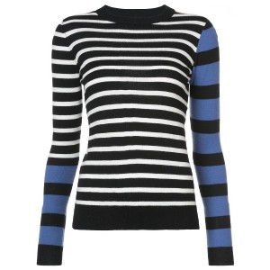 Derek Lam 10 Crosby Striped Mock Neck Pullover - ブルー