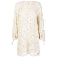 See By Chloé crochet balloon sleeve dress - ホワイト