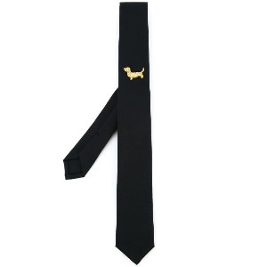 Thom Browne embroidered tie - ブルー