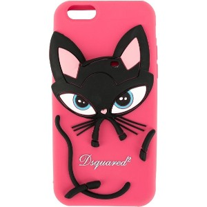 Dsquared2 キャット iPhone カバー - ピンク