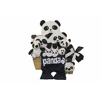 Art of Appreciation Gift Baskets Panda Mania Baby Bear Neutral Boy or Girl Gift Basket, Black/White...