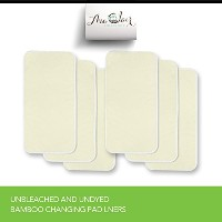 ACC Bamboo Changing Pad Liner. Larger Size - Unbleached & Undyed Rayon from Bamboo Fabric. Dryer...