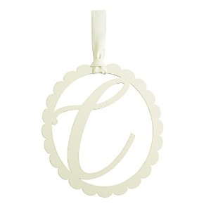 Mud Pie Scalloped Wall Initial Hanger, C by Mud Pie