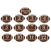 Mud Pie Football Milestone Stickers by Mud Pie