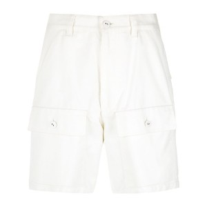 Reinaldo Lourenço high waist twill shorts - ホワイト