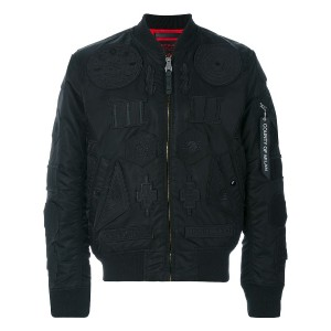 Marcelo Burlon County Of Milan Rayen Alpha MA-1 ボンバージャケット - ブラック