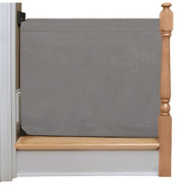 The Stair Barrier - Banister-to-Banister Baby/Pet Gate - Basic Grey, Wide by The Stair Barrier