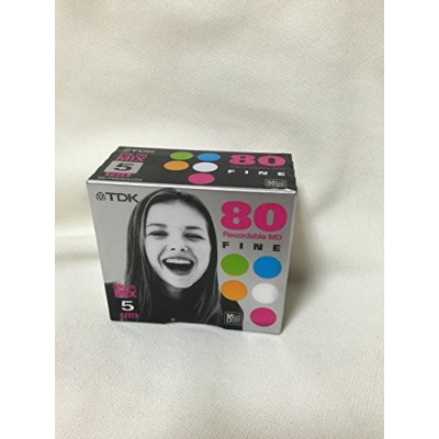 TDK MD FINE 80 COLOR MIX 5pack