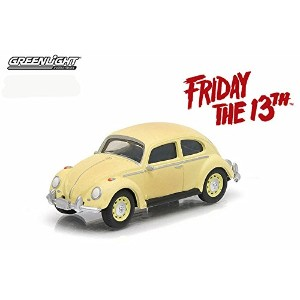 "GREENLIGHT 1:64SCALE HOLLYWOOD ""FRIDAY THE 13TH"" ""VOLKSWAGEN CLASSIC BEETLE""(YELLOW)   グリーンライト 1..."