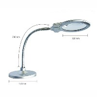KEM Magnifying Reading Glass Microscope Stand Lens Light & Simple Enlgish User's Guide. KEM拡大鏡ガラス顕微鏡...