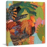 """Marmont Hill Mexican Rooster Eveliaペイントキャンバスの印刷、 24"""" x 24"""" ET-MWW-ES-4028-C-24"""