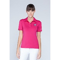 Asmar Equestrian Womens Poloシャツホットピンク ピンク