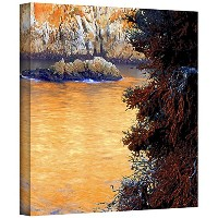 ArtWall Dean Uhlinger ' Whalers Cove Sunset ' gallery-wrappedキャンバスアートワーク 14x14 0uhl230a1414w