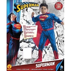 Rubies DC Comics Deluxe Muscle-Chest Superman Costume  Small (4-6)