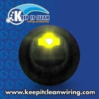 Keep It Clean 10870 Switch Lever Style LED Round Frame Switch - Yellow 20a/12vdc [並行輸入品]