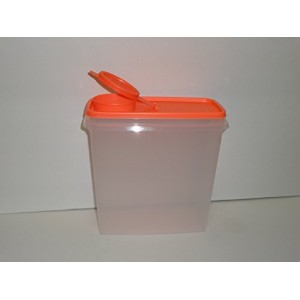 Tupperware Cereal C。A。13カップSheer with Electricネオンオレンジシール