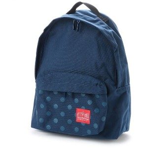 マンハッタンポーテージ Manhattan Portage Dot Print Big Apple Backpack JR (Navy) レディース メンズ