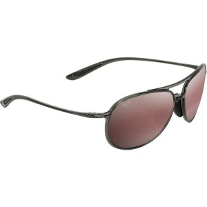 マウイジム レディース メガネ・サングラス【Alelele Bridge Polarized Sunglasses】Translucent Smoke Grey/Maui Rose
