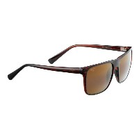 マウイジム レディース メガネ・サングラス【Flat Island Polarized Sunglasses】Brown Stripe/Hcl Bronze