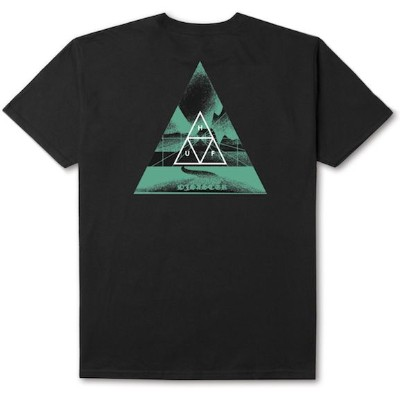HUF Dimensions Triangle T-Shirt Black S Tシャツ 送料無料