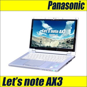 Panasonic Let's note AX3EDCCS【中古】第四世代コアi5-4300U(1.9GHz) フルHD メモリ4G SSD128G 無線LAN Bluetooth WebCam...