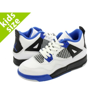 【キッズサイズ】【16-22cm】NIKE AIR JORDAN 4 RETRO BP 【MOTOR SPORTS】 ナイキ エア ジョーダン 4 レトロ BP WHITE/GAME ROYAL...