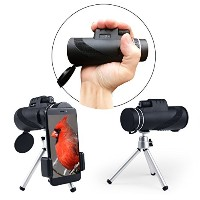 40 x 60高電源プリズムMonocular。hd-wide view-waterproof-fog proof-monocular Telescope with bak4レンズ...