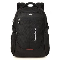 ASPENSPORT パソコンバックパック Laptop Backpack ビジネスリュック高校生 登山 出張 旅行かばん 通学通勤 スポーツ ギフト 黒 AS-B36BLK20.5
