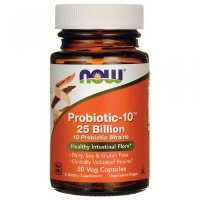 NOW Foods Probiotic-10 25 Billion, 50 Vcaps(Size: 50) by Now