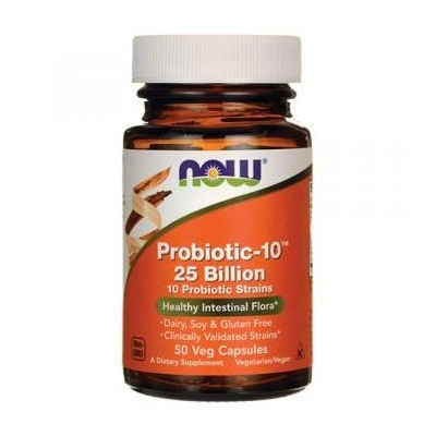[海外直送品] ナウフーズ  Probiotic-10 25 Billion 50 Vcaps(Size: 50) by