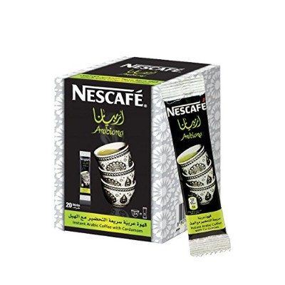 Instant NESCAFÉ Arabiana Arabic Coffee Mix With Cardamom Flavor - Small Sticks (1 Box (20 Sticks))