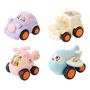 meolinのセット4pcsモデルToy Car Play VehicleプレイセットPreschool Learning for Children Baby Mini Toys Cars