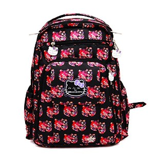 ju-ju-be Hello KittyコレクションBe Right Back Backpack Diaperバッグ、Hello Perky