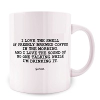 Geek詳細I Love The Smell Of Freshly Brewed Coffee in the Morning Coffee Mug、11オンス、ホワイト