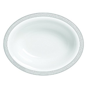 Wedgwood Vera Moderne Open Vegetable Bowl Oval, 9.75', White [並行輸入品]