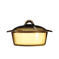 (2L) - Luminarc France Amberline Blooming Heat-resistant Glass Casserole Cooking Pot (2L)