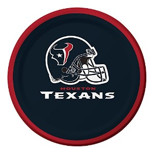 Creative Converting Officially Licensed NFL印刷プラスチックカップ、8-count、20-ounce、ヒューストンTexans ブルー 419513
