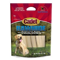 """IMS Trading Rawhide Retriever Rolls 10"""" Dogs Treat Toys Outdoor Indoor Play"""