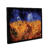 ArtWall Vincent Vangogh 's Wheatfield with CrowsギャラリーWrapped floater-framedキャンバス 14x18 0van017a1418f