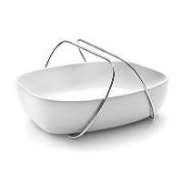 EVA SOLO – Dish withハンドルStonewareオーブンServing Dish M ホワイト 567859