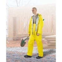 ONGUARD 74552 2-Ply PVC Economy Bib Overall with Snap Fly Front, Yellow/Silver, Size 2XL by ONGUARD...