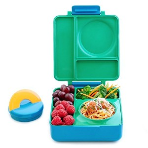 (Meadow) - OmieBox Bento Lunch Box With Insulated Thermos for Kids, Meadow