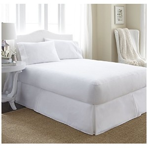 ienjoy Home Home Collection Premium Luxury Terry Cotton Waterproof Mattress Protector, King, White