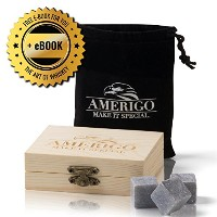 プレミアムWhiskey Stonesギフトセットby Amerigo – 水Down Your Whiskey ?Never Again 。セットof 9 Whiskey Rocks –...