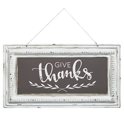 Brownlow Gifts Pressed Tin Sign, Give Thanks