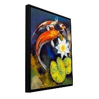 ArtWallマイケル・Creese ' Koi Fish and Water Lily 'フロータFramedギャラリー‐ 14by 18 18x24 0cre022a1824f