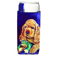 Cocker Spaniel with Frog Ultra Beverage Insulators forスリム缶7342 MUK