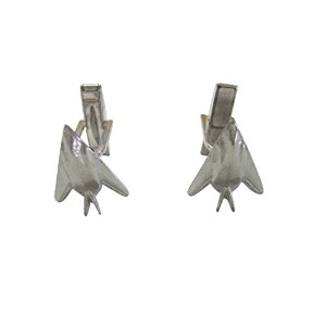 Silver Toned Stealth Fighter Plane Cufflinks