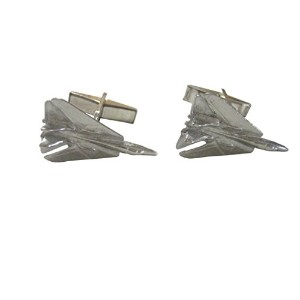 Silver Toned Tomcat Jet Plane fighter Cufflinks