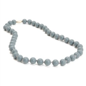 Chewbeads - Teething Necklace Stormy Grey by Jane